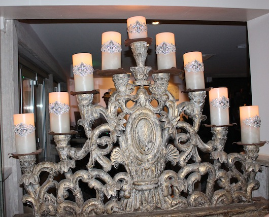 Inside New West Hollywood Restaurant Pump Candle Romantic  Holder