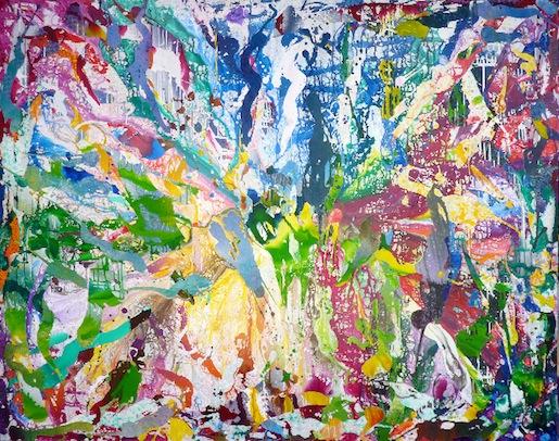 Christian Awe spring break 2014 Acryl, Sprühlack auf Leinwand 210x160cm