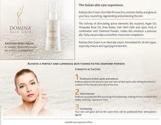 Radiosa Skin Cream Domina Skincare