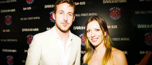 Julia Melim and Ryan Gosling on the Red Carpet Hollywood TV