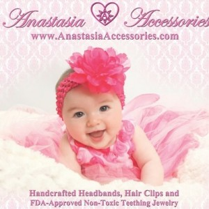 Handcrafted Headbands for baby's Non toxic teething jewelry