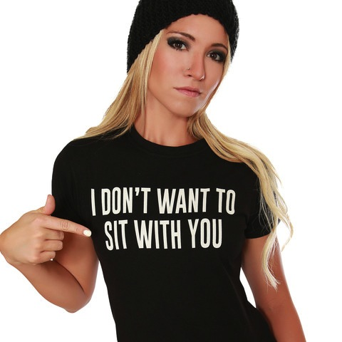 I don't want to sit with you shirt Strange Children